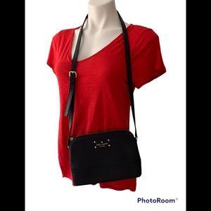 Kate Spade Black Leather Wellesley Hanna Crossbody Bag